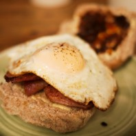 Bacon & Egg Bap - The Singing Kettle Whitby